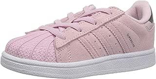 Infant Superstar Elastic Sneaker, Clear Pink/White, 7K