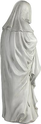 Design Toscano NG31566 Statue de Pleureuse française grand Blanc Cassé 25,5 x 28 x 61 cm