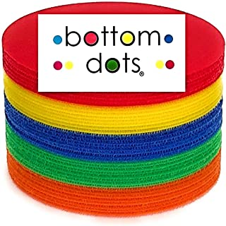 """BOTTOM DOTS - 21 Carpet Dots Adhesive Spots 5"""" Colorful Sitting Markers for Classroom Teachers and Children Carpets Circle..."""