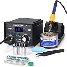 YIHUA 939D+ Digital Soldering Station, 75W Equivalent with Precision Heat Control (392°F..