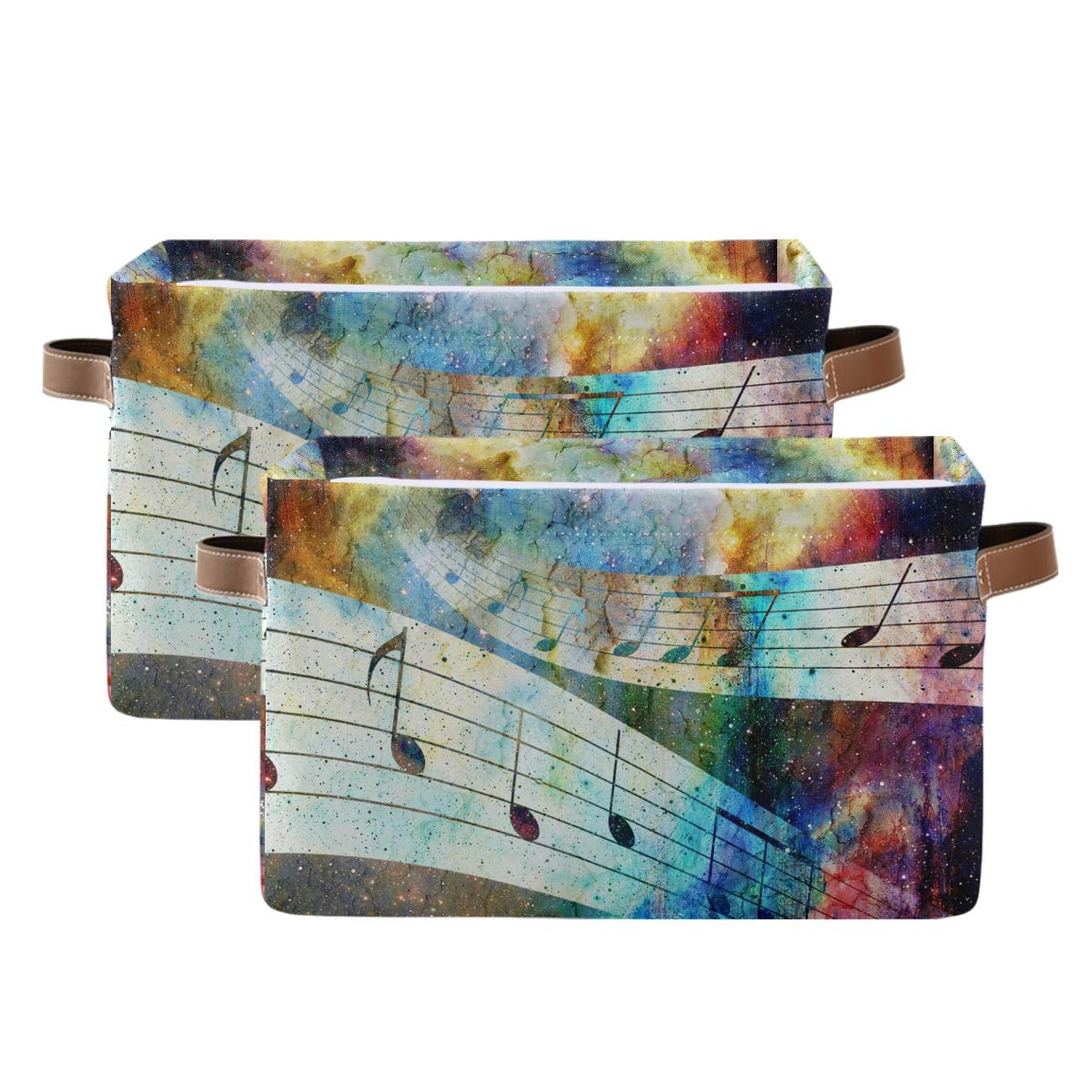 Kelekey Colorful Galaxy Music Note Collapsi Storage Fort Ranking TOP10 Worth Mall Basket Large