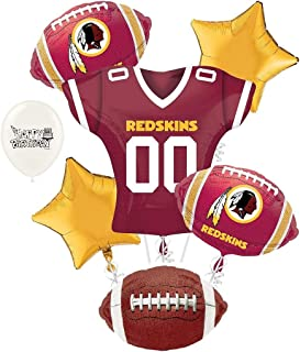 Washington Redskins NFL Football Party Balloon Bouquet Bundle