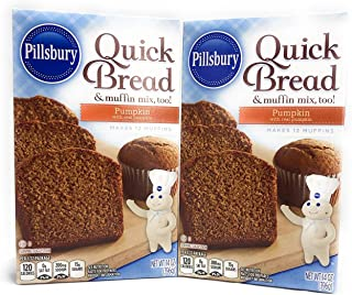Pillsbury Pumpkin Quick Bread & Muffin Mix (Pack of 2) 14 oz Boxes