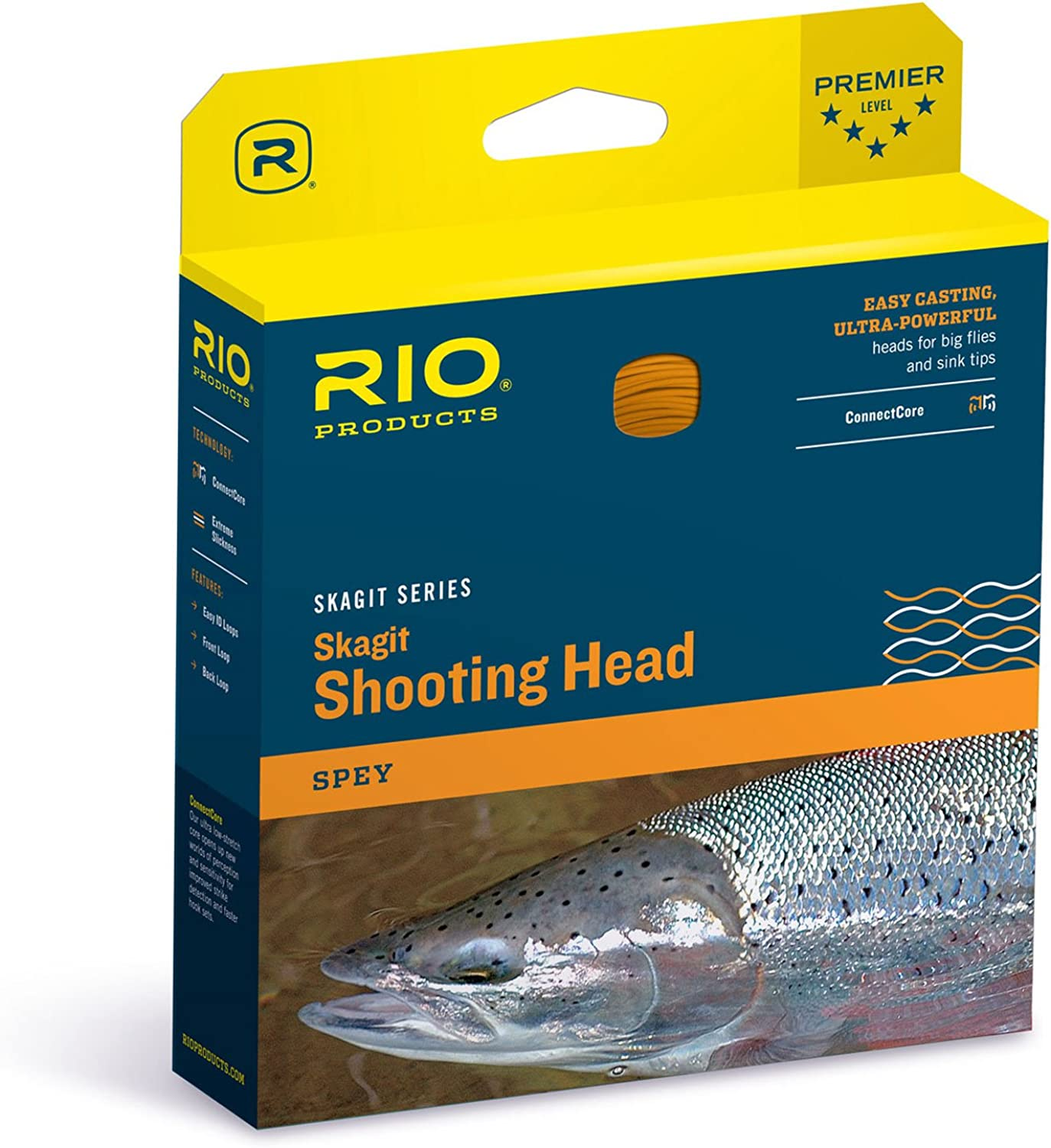 RIO Fly Fishing Fly Line Skagit Inflight Shad 350gr Fishing Line Clear Camo Pale orange