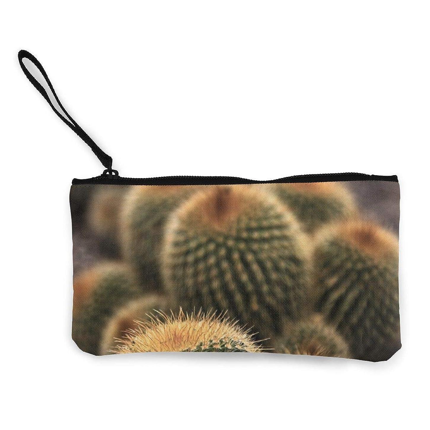放映サービス日記ErmiCo レディース 小銭入れ キャンバス財布 もっこもこサボテン 小遣い財布 財布 鍵 小物 充電器 収納 長財布 ファスナー付き 22×12cm