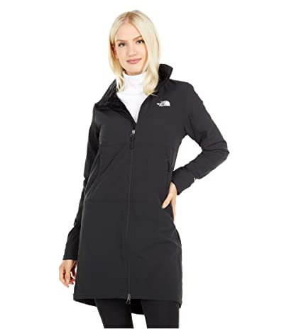The North Face Shelbe Raschel Parka-Length Hoodless Jacket (TNF Black) Women