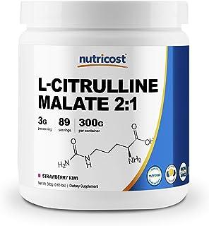 Nutricost L-Citrulline Malate 2:1 (300 Grams) (Strawberry Kiwi)