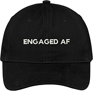 Engaged AF Embroidered Soft Crown 100% Brushed Cotton Cap