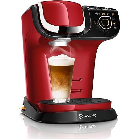 BOSCH - TAS6503 Tassimo My Way 2 - Cafetière à capsule - Avec système de filtration BRITA et interface tactile - Personnalisation de boissons - 1500 W - 1,3 litre - Rouge
