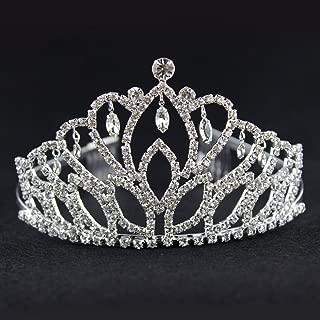 Elegant Tiara Crystal Hair Crown - Rhinestones Headband for Queen, Bridal, Princess in Wedding, Party and Birthday 1-2 - by NIPOO