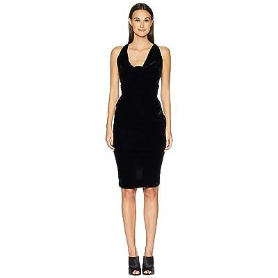 Vivienne Westwood Virginia Velvet Cowl Neck Dress (Black) Women