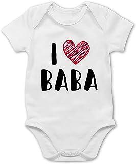 Shirtracer Bunt gemischt Baby - I Love Baba - Baby Body Kurzarm für Jungen und Mädchen