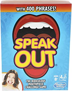 Hasbro Gaming Speak Out Game Mouthpiece Challenge (Renewed)