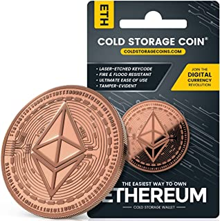 Copper Plated Cold Storage Ethereum Coin Wallet to Store & Redeem Bitcoins, Use Laser Technique to Deeply Etch Wallet ID &...
