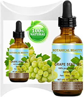 Sponsored Ad - GRAPE SEED Oil. 100% Pure / Natural / Undiluted Cold Pressed Carrier Oil for Skin, Hair, Massage and Nail C...