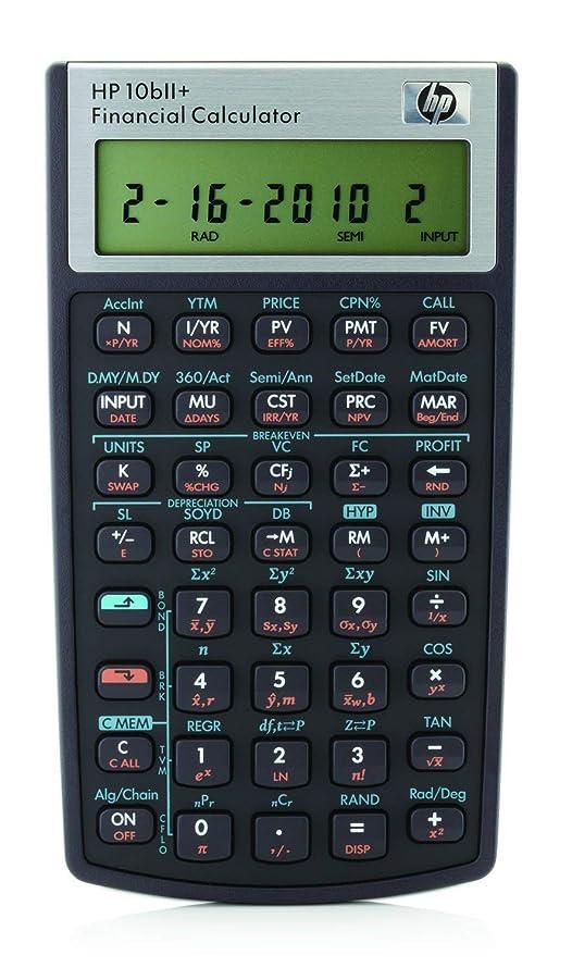 HP 10bII+ Financial Calculator (NW239AA) (Certified Refurbished)