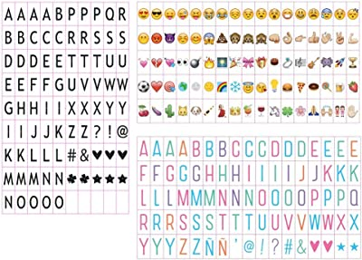 Emsmil 255 Emojis Símbolos Simbolos Letras y Números para Caja de ...
