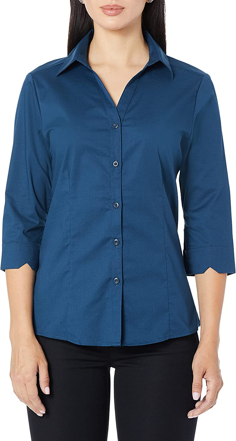 Chef Works Women's Finesse 3/4 Sleeve Fitted Shirt