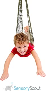 Mesh Swing Seat Hanging Hammock, Fun Rope Pod Chair for Camping, Travel, Hiking, and Backyard Relaxation, Comfortable and Easy to Hang, Supports Kids, Teens, Adults