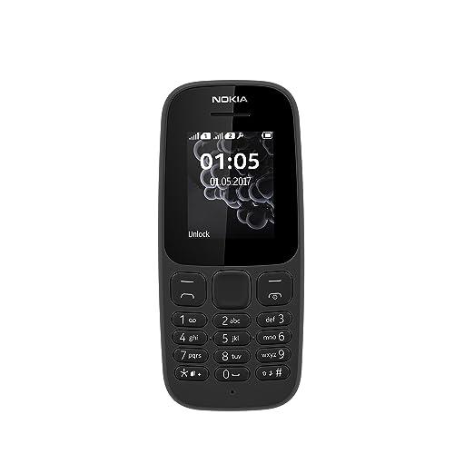 Nokia 105 Téléphone Portable -  Noir [Version Import]