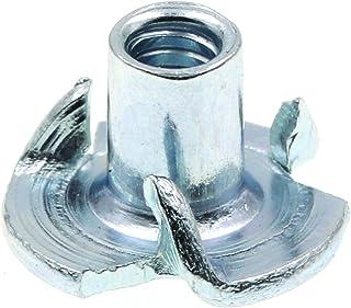 Zinc Plated 2000 pcs Steel T-Nuts #4-40 X 1//8 3 Prongs