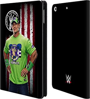 Official WWE John Cena American Flag Superstars Leather Book Wallet Case Cover Compatible for iPad Mini 4
