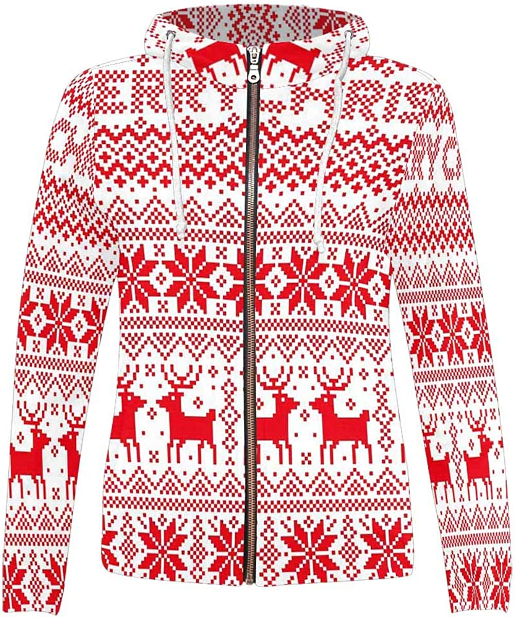 InterestPrint All Over Print Hoodie with Pocket and Zip for Max 46% OFF Popular products Full