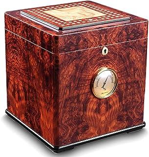 YXF-cigarr Humidors cigarrlåda - cigarr fuktgivande låda cederträ stor dubbelvånings cigarr humidor cigarrskåp (färg: A)