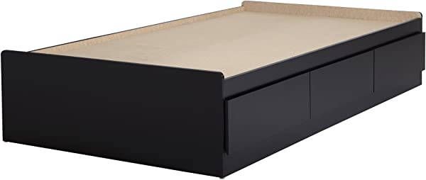 South Shore Basic 10575 39 Mates Bed With 3 Drawers Twin Pure Black
