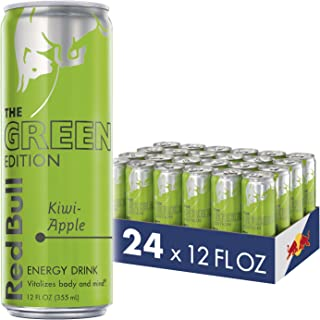 Red Bull Energy Drink, Kiwi Apple, 12 Fl Oz (24 Count), Green Edition