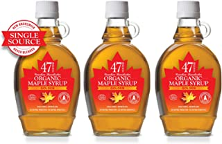 New 47 North Canadian Single Source Organic Maple Syrup, Grade A, Golden, 3x250g LIMITED EDITION