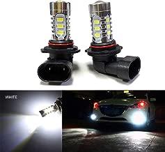 SOCAL-LED 2x H10 9145 LED Fog Light Bulb 15W SMD 5730 12V High Power Bright DRL Bulbs, White