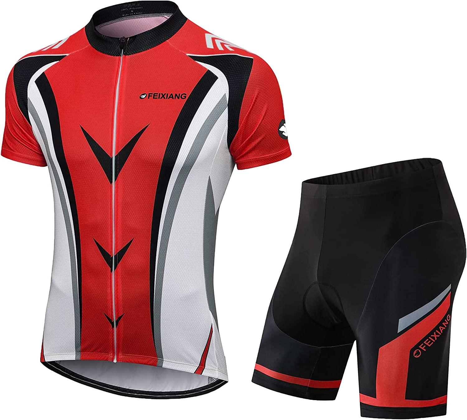 Dealing full price reduction FEIXIANG Mens Cycling Jersey Set Sleeve Short Free shipping on posting reviews Bicycle Kit Bike