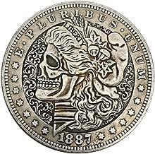 SUPERLOVE Moneda De Plata Tridimensional En Relieve Virtual,1887 Moneda Conmemorativa De La Moneda Conmemorativa del Dólar De Plata Estadounidense Morgan Moneda Conmemorativa Moneda