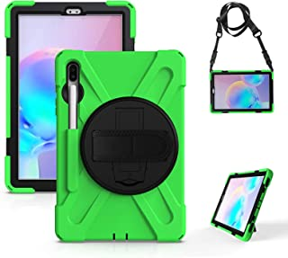 Case Compatible with Samsung Galaxy Tab S7/S7 Plus /A7, Heavy Duty Shockproof Kids Case 360 Degree Rotating Stand Cover wi...