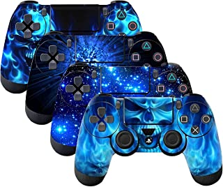 SubClap 4 Packs PS4 Controller Skin, Vinyl Decal Sticker Cover for Sony PlayStation 4 DualShock 4 Wireless Controller (Shing Blue)