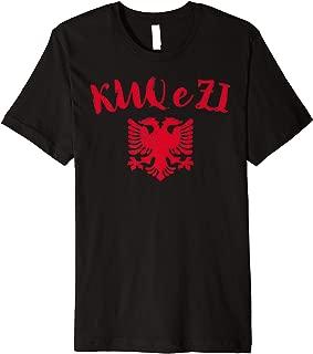 Albania Kosovo Pride Shqiptar KUQ e ZI Eagle T Shirt