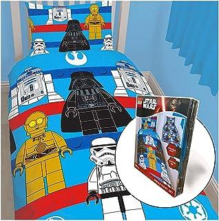 Linon Kinder-Bettwäsche Lego Star Wars Space 135x200 80x80 cm Bettzeug Bettbezug