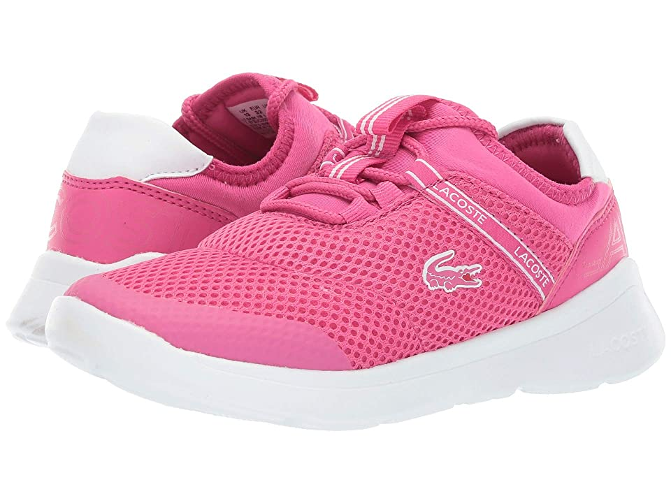 Lacoste Kids Lt Dash 119 1 SUC (Little Kid) (Dark Pink/White) Girl