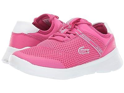 Lacoste Kids Lt Dash 119 1 SUC (Little Kid) (Dark Pink/White) Girl