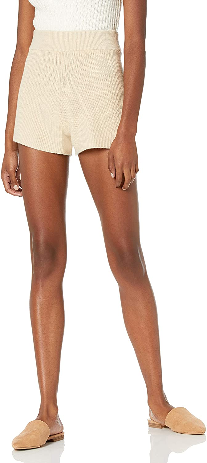 The Drop Women's Faith Pull-on Ribbed Sweater Short