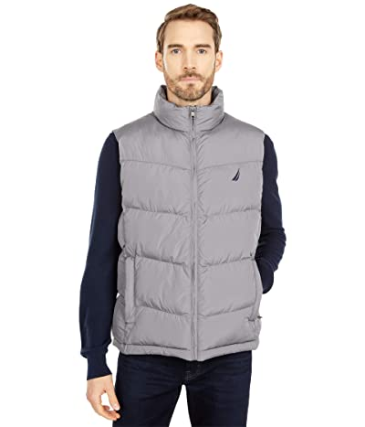 Nautica Quilted Tempasphere Vest (Grey Shadow) Men
