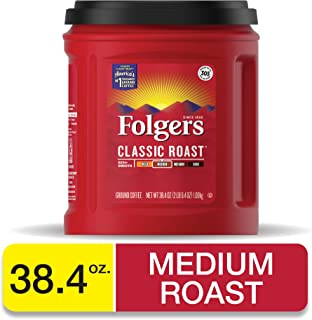 Folgers Classic Roast Medium Roast Ground Coffee, 38.4 Ounces