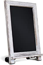 """Rustic Whitewash Tabletop Chalkboard Sign / Hanging Magnetic Wall Chalkboard / Small Countertop Chalkboard Easel / Kitchen Countertop Memo Board / 9.5"""" x 14"""" . Weddings, Birthdays, Baby Announcements"""