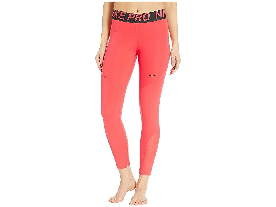 Nike Pro 7/8 Crop Tights (Ember Glow/Outdoor Green) Women