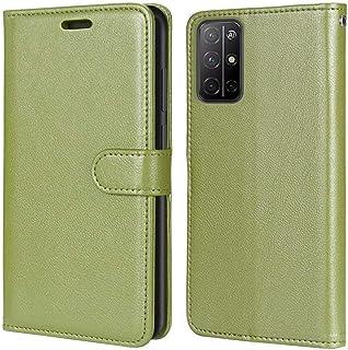 Abtory Honor 30S ケース - フリップフォリオキックスタンドPUレザーウォレットケースカバー-IDおよびクレジットカードポケット for Huawei Honor 30S Green