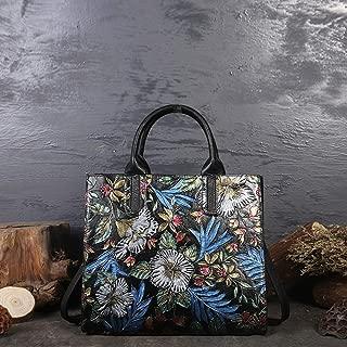 Bag for Women Fashion Cross Body Retro Leather Handbags Handbags Female Shoulder Handbags (Color : Blue)