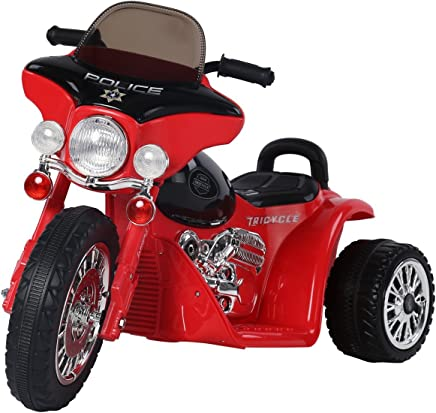 homcom Triciclo Moto Elettrica per Bambini con Certificato, Rosso