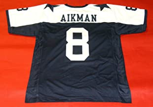 TROY AIKMAN BLUE THROWBACK DALLAS CUSTOM STITCHED NEW FOOTBALL JERSEY MEN'S XL
