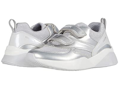 Geox Kids Sinead 7 (Toddler/Little Kid) (Silver) Girl